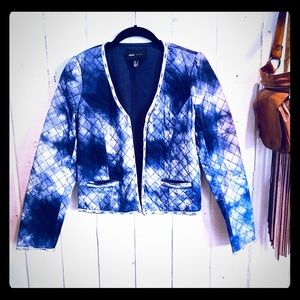 Mango / MNG Quilted Jacket with Beaded Trim 💙